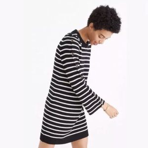 Madewell Donnegal Wool Striped Mini Dress